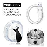 Vortex Mixer Rechargeable Cable & Base & Lid,Automatic Protein Shaker Lithium-ion Motor & USB Charging Cable & Cap Pack for Most Electric Tornado Shaker Bottle/Hurricane Powder Shake Cup