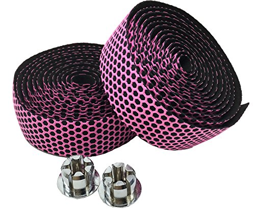 Pink Handlebar (Yowanted New Unique Silicone Honeycomb Bicycle Road Bike Handlebar Tape Pink)