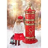 Christmas Decorations - Santa Claus Giant Christmas Mailbox Holiday Decor - Christmas Cards to The North Pole