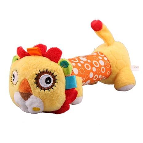 mxdmai león del traqueteo del bebé de juguete de felpa cuna ...