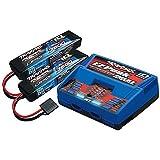 2S Battery/Charger Combo: (2) 7.4V 7600mAh LiPo Battery, (1) EZ-Peak Dual ID Charger