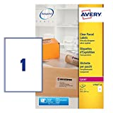 AVERY CLEAR LASER LABELS L7567-25