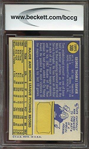 1970 topps #300 TOM SEAVER new york mets BGS BCCG 8 Graded Card