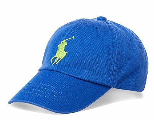 Polo Ralph Lauren Boys Big Pony Cap Hat (2/4T, Blue/Green)