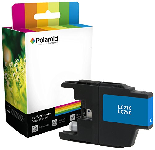 Polaroid Professional B-LC75C-PRO Remanufactured Inkjet Cartridge Replacement for Brother LC71C, LC75C, (Cyan) (Cartridge Epson Polaroid Ink Replacement)