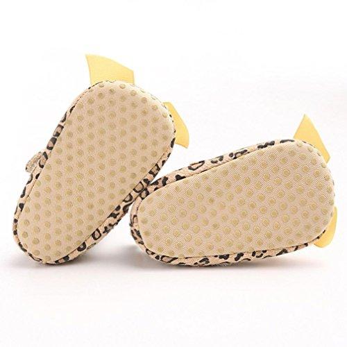 Saingace® Bébé filles bande bowknot chaussures léopard enfant espadrilles chaussures de sport (13)
