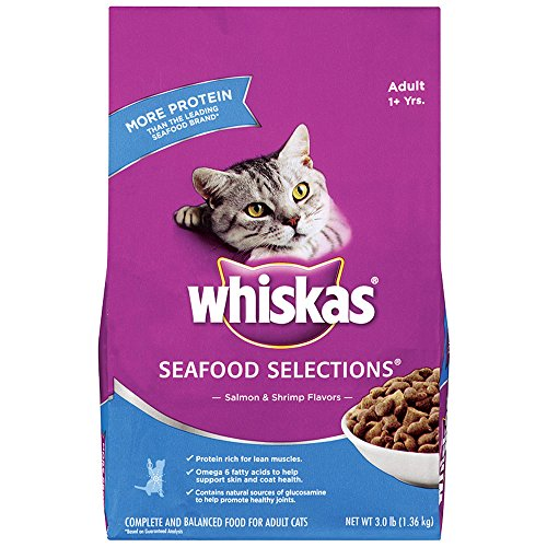 WHISKAS SEAFOOD SELECTIONS Salmon and Shrimp Flavors Dry Cat