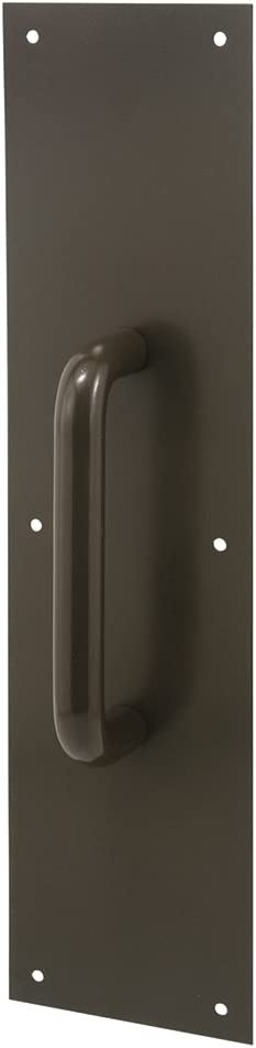 Round Handle 4 by 16 Bronze Painted Alum Prime-Line Products J 4668 Door Pull Plate