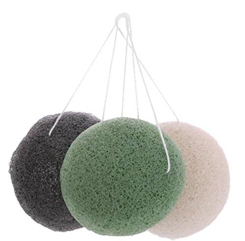 Sponge Face Cleansing Puff Natural Konnyaku Sponge Bamboo Charcoal Facial Puff Washing Cosmetic Puff (Random