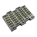 6 position terminal barrier strip - uxcell 5 Pcs 6 Positions Dual Rows 600V 45A Wire Barrier Block Terminal Strip TB-4506