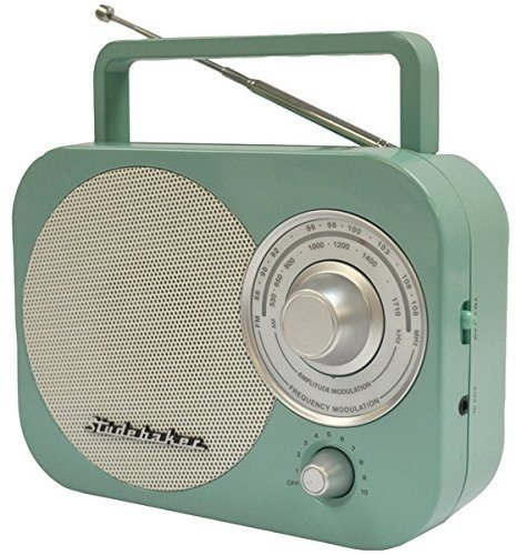 Studebaker SB2000TS Teal/Silver Retro Classic Portable AM/FM Radio with Aux ()