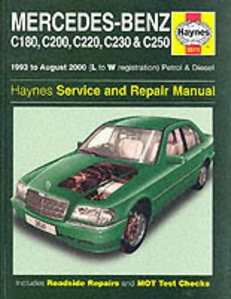 Haynes Workshop Manual Mercedes C-Class 2000-2007 Service /& Repair