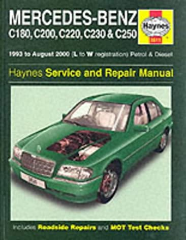 mercedes benz c class petrol and diesel 1993 2000 service and rh amazon com 1995 mercedes c220 repair manual 2000 Mercedes C220