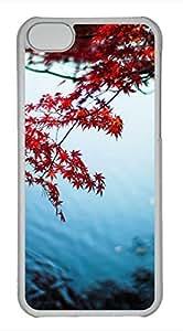 iPhone 5c case, Cute Maple Leaf iPhone 5c Cover, iPhone 5c Cases, Hard Clear iPhone 5c Covers