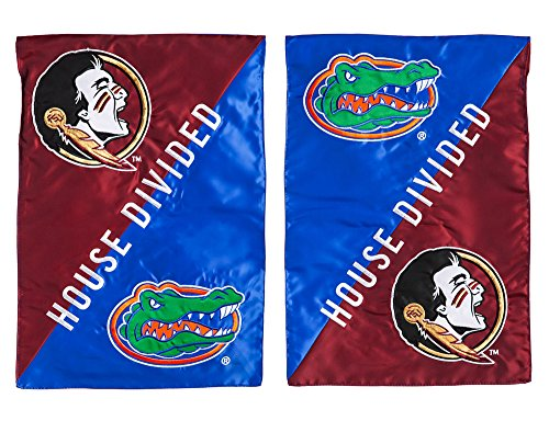 Florida State House Divided (Florida State Seminoles Official NCAA 12.5 inch x 18 inch House Divided Garden Flag)