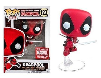 Leaping Deadpool Collector Corps Exclusive Vinyl Figure Funko Pop Marvel X-men Bundled with Pop Box Protector Case