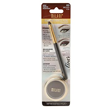 Milani Fierce Foil Eyeliner, 02 Purple Foil (Pack of 2)