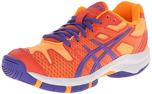 UPC 887749675429, ASICS GEL Solution Speed GS Tennis Shoe (Little Kid/Big Kid),Hot Coral/Lavender/Nectarine,7 M US Big Kid