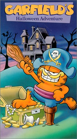 amazoncom garfields halloween adventure vhs lorenzo music thom huge gregg berger c lindsay workman desire goyette phil roman movies tv