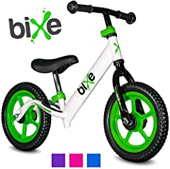 Bixe Balance Bikes are some of the lightest-weight balance bikes, making it easy for your beginners to train and carry their bike. Balance is the single most importance part of learning to ride without training wheels. It is important that th...