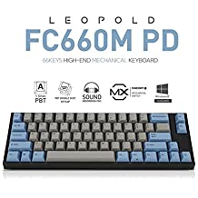 Leopold FC660M PD 66keys High-End Mechanical Keyboard Cherry MX (White, WhiteSwitch)