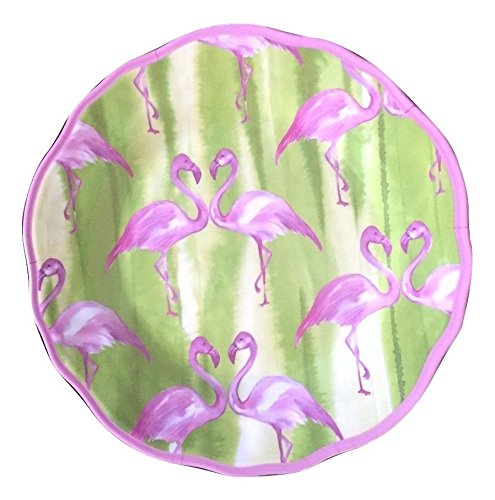 - Cynthia Rowley Pink Flamingo Melamine Salad Plates - Set of Four