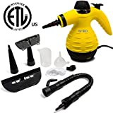 Handheld Steam Cleaner, ANKO Multi-Purpose Pressurized Steam Cleaner with 6 Different Attachments and 3 Additional Accessories. Used to Clean the Doors, Carpets, Curtains, Kitchen Surface and etc