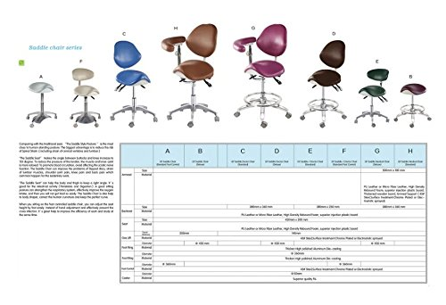 APHRODITE Standard Dental Mobile Chair Saddle-1 Doctor's Stool PU Leather Dentist Chair from Aries Outlets by Aphrodite (Image #3)