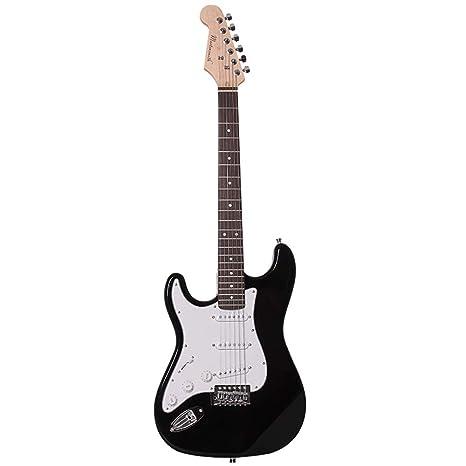 Miiliedy Guitarra eléctrica fría blanca Splice Cool Ejercicio para principiantes zurdos Tocando la guitarra eléctrica de