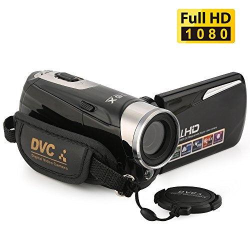 "Camcorder,Bekhic Infrared Night Vision Handy Camera HD 1080P 24MP 16X Digital Zoom Video Camera DV with 3.0"" LCD 270 Degree Touchscreen"