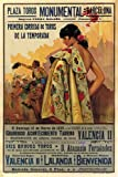 BULLFIGHT vintage ad poster BARCELONA SPAIN 1935 CORRIDA 24X36 VERY RARE