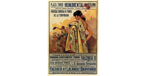 Amazon.com: Corrida clásico AD Póster Barcelona Spain 1935 ...