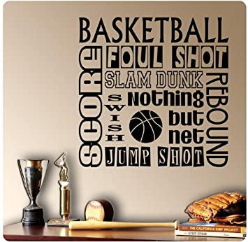Basketball Sayings Wall Decal Sticker Art Mural Home Décor Quote