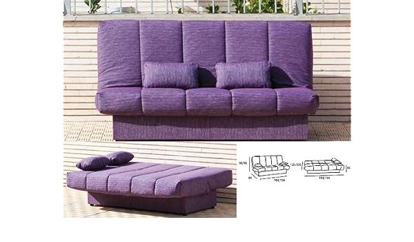Sofa cama barato clicclac 125 x 184 /135 x 194 cm: Amazon.es ...
