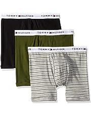 Tommy Hilfiger Mens Underwear 3 Pack Cotton Classics Boxer Briefs Underwear - Multi
