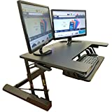 Standing Desk Height Adjustable Stand - Up Sit Stand Desks Converter Standup Workstation Fits Big Monitors 36