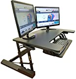 Standing Desk Height Adjustable Stand - Up Sit Stand Desks Converter Standup Workstation Fits Big Monitors 36'' Wide