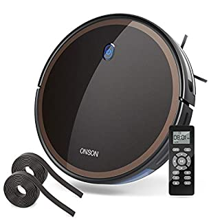 GOOVI by ONSON Robot Vacuum, 2000Pa Robotic Vacuum Cleaner (Slim) Max Suction, Quiet Multiple Cleaning Modes, Self-Charging Vacuum with Boundary Strips, for Pet Hair, Hard Floor, Medium-Pile Carpets