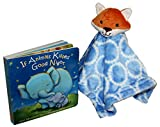 "Hudson Baby Fox Plush Security Blanket with the best-seller baby book ""If Animals Kissed Goodnight"". This Combination provides a truly unique story-time experience and is perfect as a baby shower gift"
