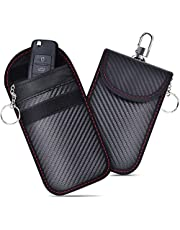 Faraday Pouch for Car Keys (2Pcs), Car Key Signal Blocker Pouch, Faraday Bag for Keyless Car RFID Blocking, Anti-Theft Remote Entry Smart Fobs Protection