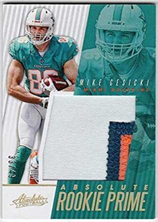 competitive price 9629f 12d1a Amazon.com: Mike Gesicki 2018 Panini Absolute Rookie Prime 3 ...