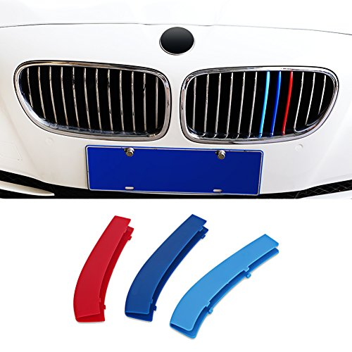 Front Grille Cover Strips Clip Trim For BMW 5 series F10 2011-2013 Accessories
