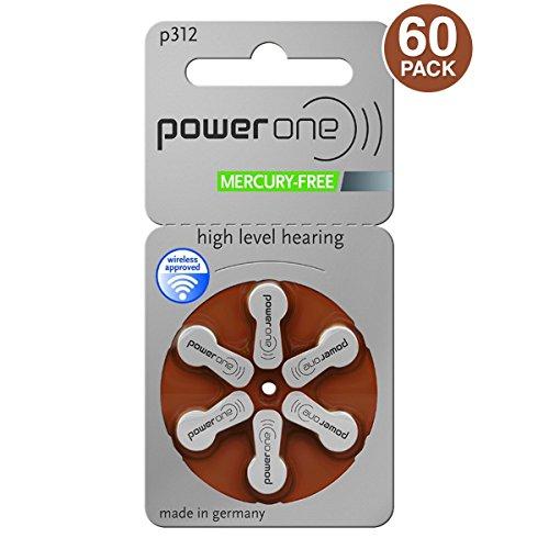 Varta Powerone Type 312 Hearing Aid Batteries Zinc Air P312 PR41 ZL3 Pack of 60