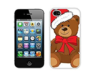 Recommend Design Christmas Bear White iPhone 4 4S Case 3