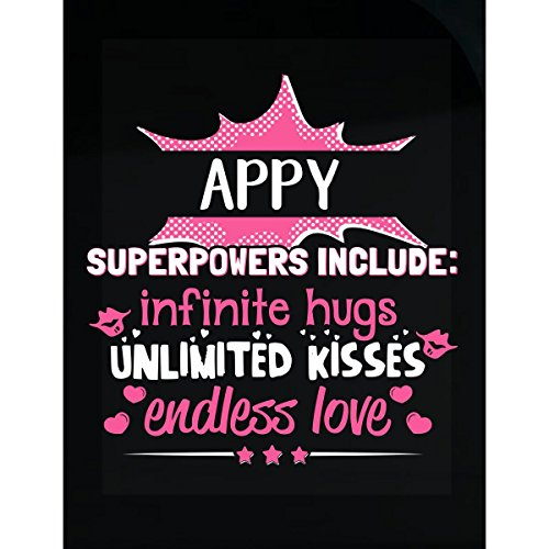 Appy Tee - My Family Tee Appy Superpowers Hugs Kisses Love Gift For Grandma - Sticker