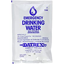 Datrex Emergency Survival Water Pouch (Pack of 66), 125ml