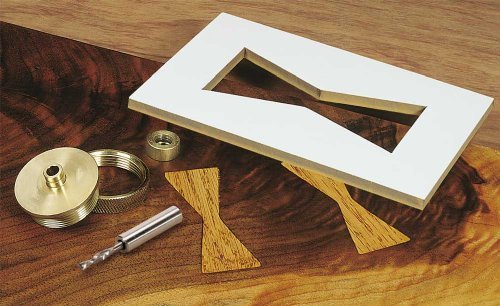 MLCS 9177 Brass Router Inlay Kit with Router Bit by MLCS