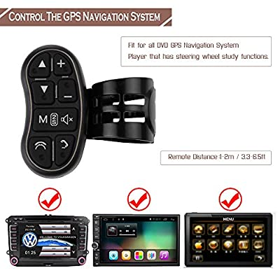 ALLOMN Universal Car DVD GPS Player Steering Wheel Wireless Remote Controller with Audio Volume Bluetooth Switch for DVD Player GPS Navigation System: Automotive