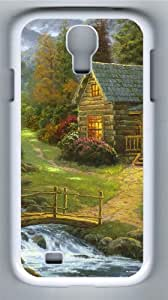 Mountain paradise Polycarbonate Hard Case Cover for Samsung Galaxy S4/Samsung Galaxy I9500 White