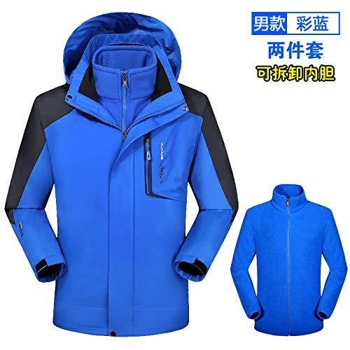Chaqueta Hombre para Chaqueta Hombre Exterior Wllenen Azul G Impermeable Chaqueta 6XL SFqxp